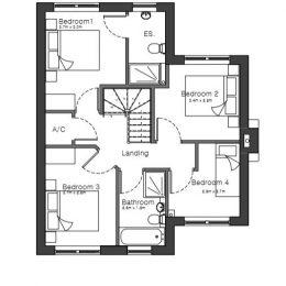 plot 1 (house) first floor plan