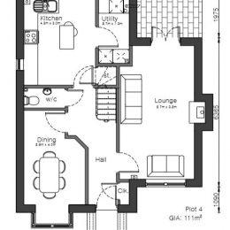 plot 1 (house) ground floor plan