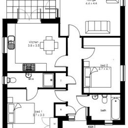 plot 3 (bung) floor plan image