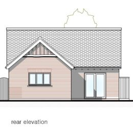 plot 3 (bung) rear elevation image
