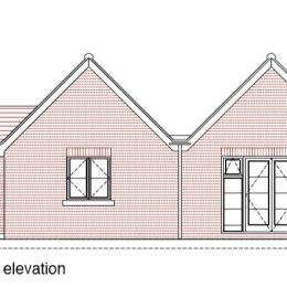 south west elevation RWP9